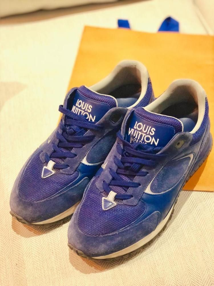 1c728d79a807 Louis Vuitton Run Away Sneakers - Blue - US 7.5   UK 7   EU 41  fashion   clothing  shoes  accessories  mensshoes  casualshoes (ebay link)