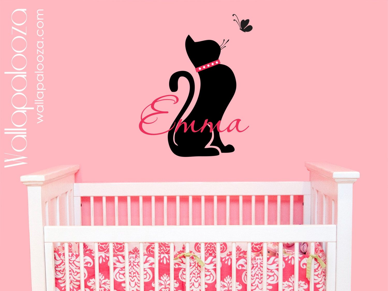 Wall decal portrait of cat scratches pet from decalsfromdavid on cat wall decal girls name wall decal custom name wall decal custom vinyl wall decals amipublicfo Gallery