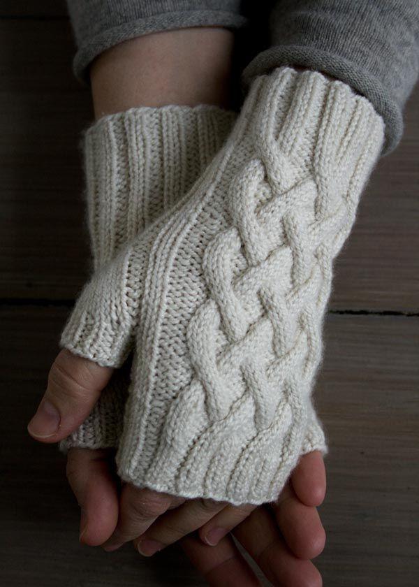 Knit Fingerless Gloves: 16 Free Patterns | Purl soho, Cable and Mittens