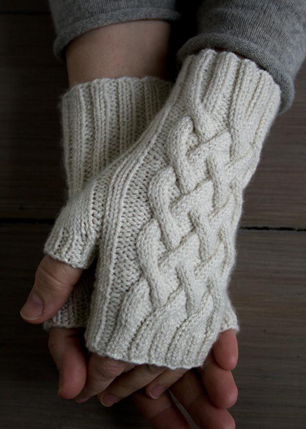Knit Fingerless Gloves 16 Free Patterns Pinterest Purl Soho