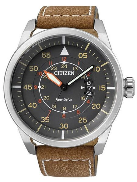 b9d216db3decf Citizen AW1360-12H is a pilot watch that comes with a grey type B dial and  it is powered by a Citizen Eco-Drive movement.