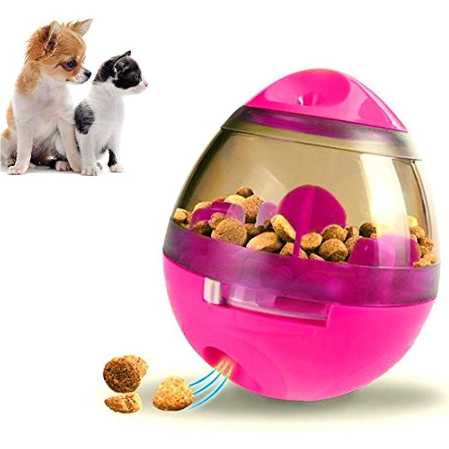 Faougess Dog Food Dispenser Ball Toy Pet Increase Iq Slow Feeder