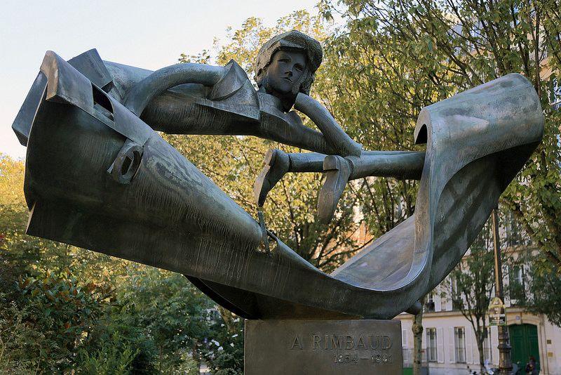 arthur rimbaud statue paris ile ilgili görsel sonucu