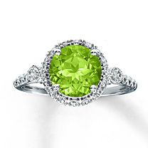 Sterling Silver Peridot & Lab-Created White Sapphire Ring @ Jared
