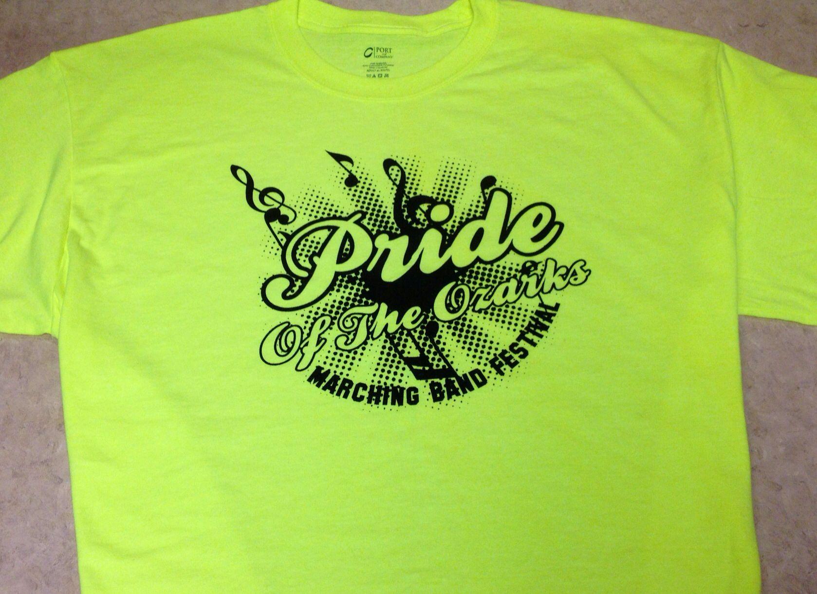 Pride Of The Ozarks Marching Band Festival Show Shirts Mens Tops Mens Tshirts Mens Graphic Tshirt