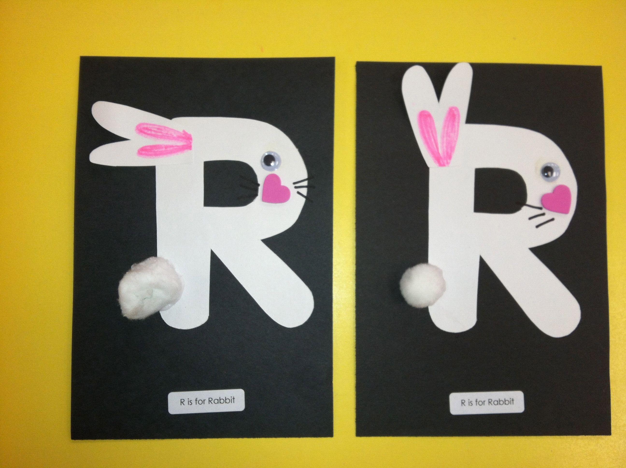 Preschool Art Raccoon Letter Art
