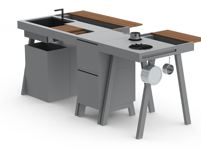 N1 Kitchen System Is Designed For Outdoors, But Would Look Good Anywhere