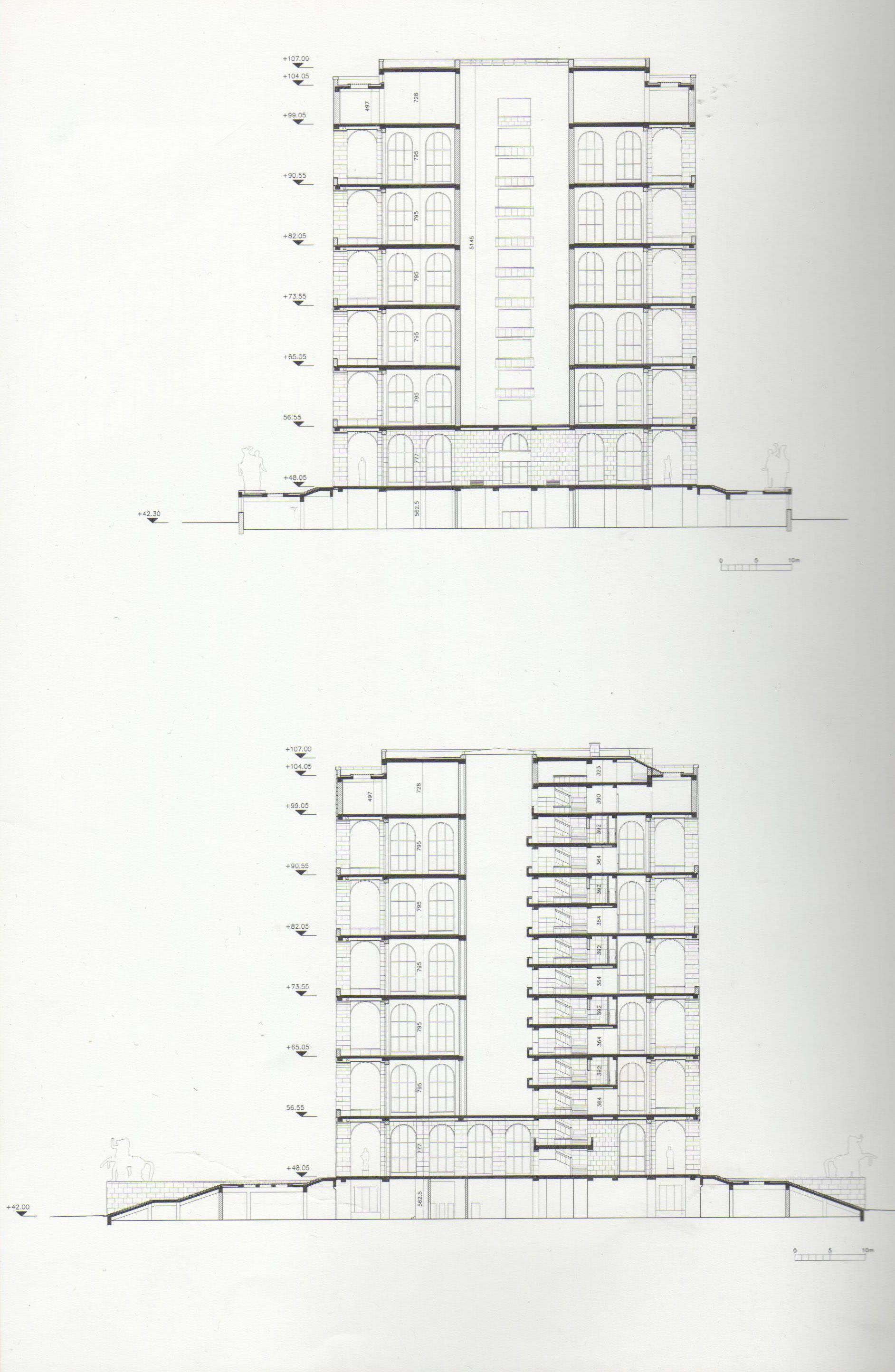 Sezione Trasversale Longitudinale Palazzo Della Civilt Italiana Dazor Lamp Wiring Diagram Eur Roma Pinterest Architecture And