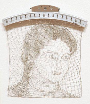 Family Hair Installation, Detail, Della 1890s.  Karen Searle.