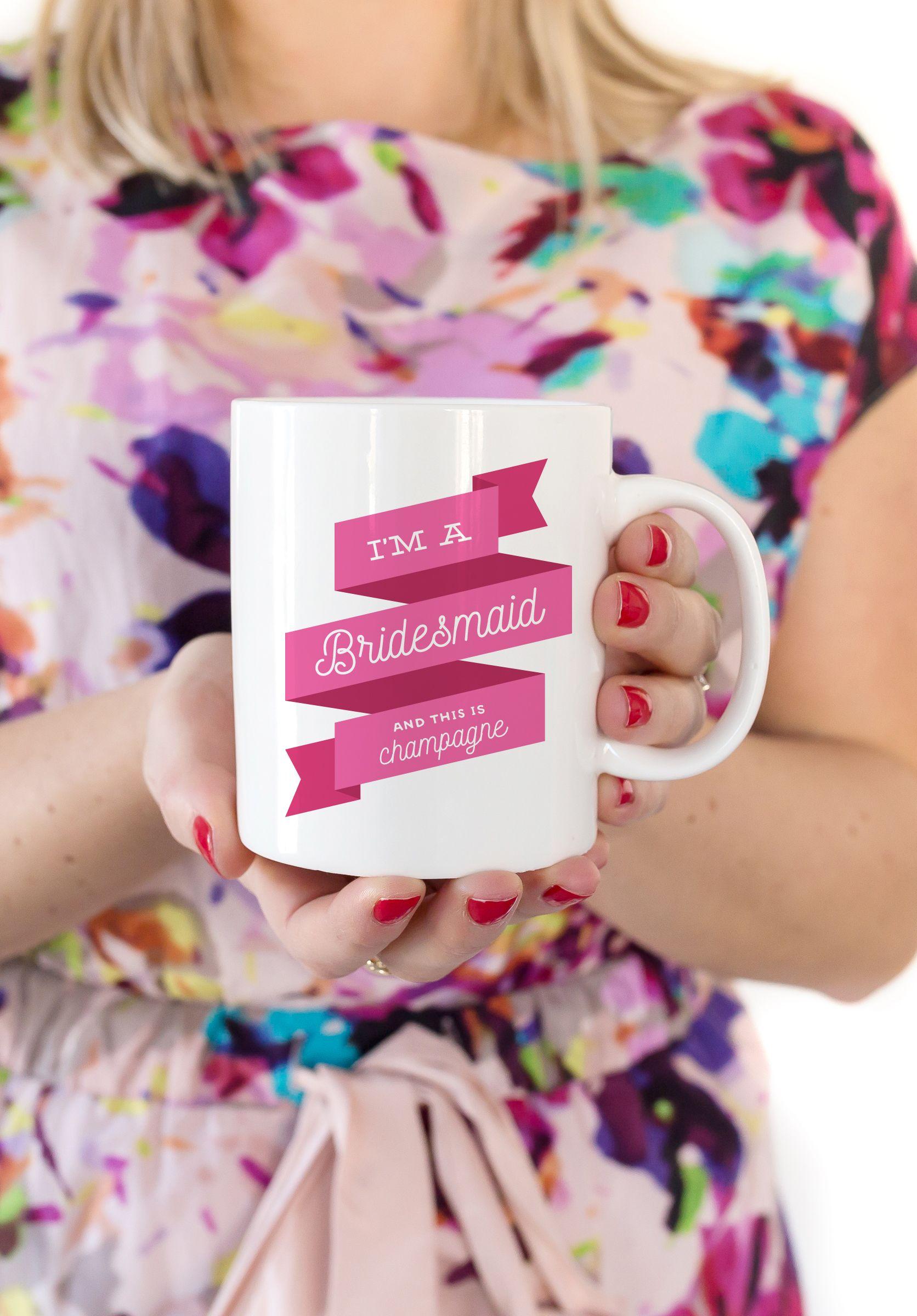 Bridesmaid gift mug gifts for wedding party maid of