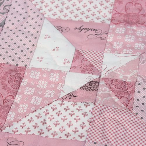 Hand Made Patchwork Quilt - baby girl | For Faith | Pinterest : pink patchwork quilts - Adamdwight.com