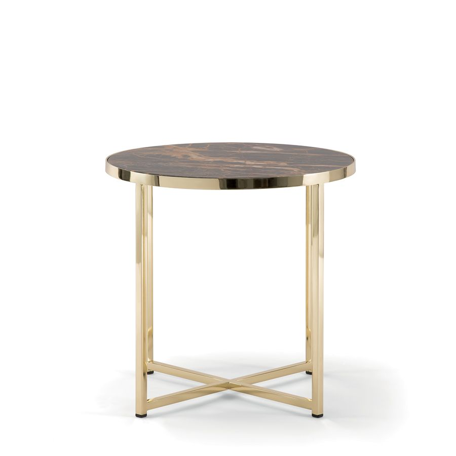 Denver 085 Ot Round Coffee Table With Rounded Edges And Metal Base Available In Black Polished Brass Or Galvanized Br Round Coffee Table Table Coffee Table [ 900 x 900 Pixel ]