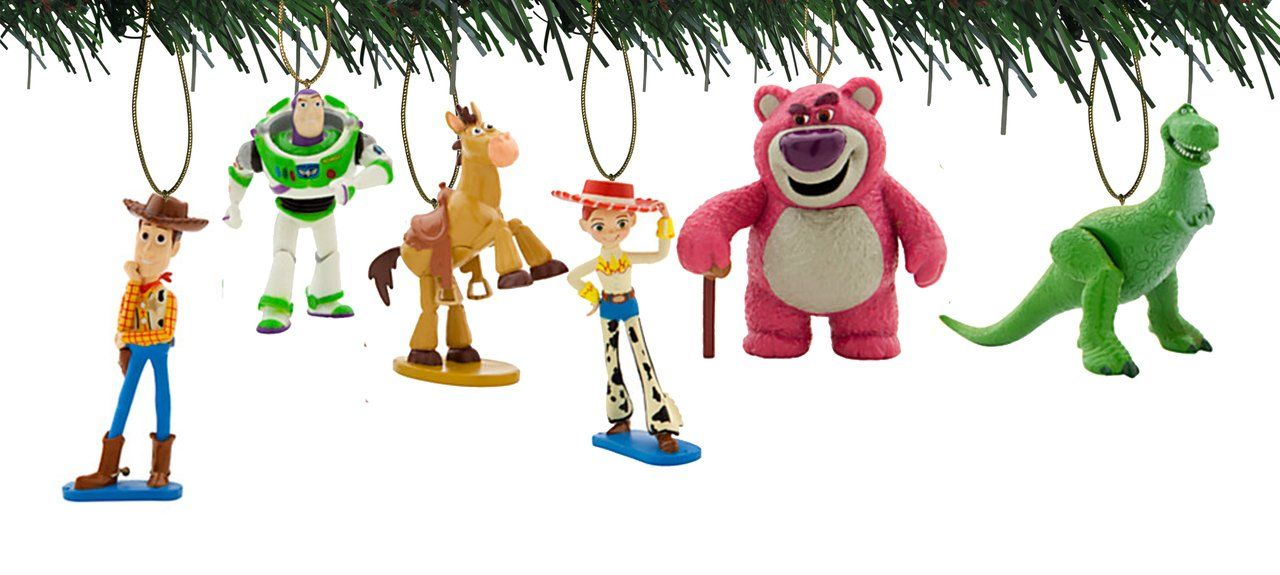 Disneypixar Toy Story Ornaments Disney Holiday Ornament Comes Brand New Sealed Shatter Proof Woody Buzz Jessie Lo Christmas Ornaments Ornament Set Ornaments
