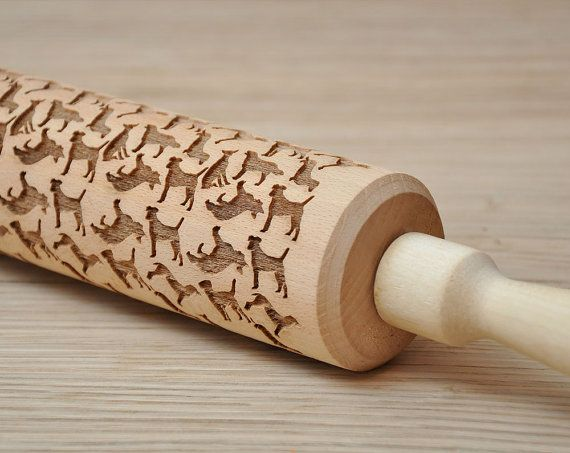 Dog  pattern Embossed Rolling Pin Engraved rolling-pin