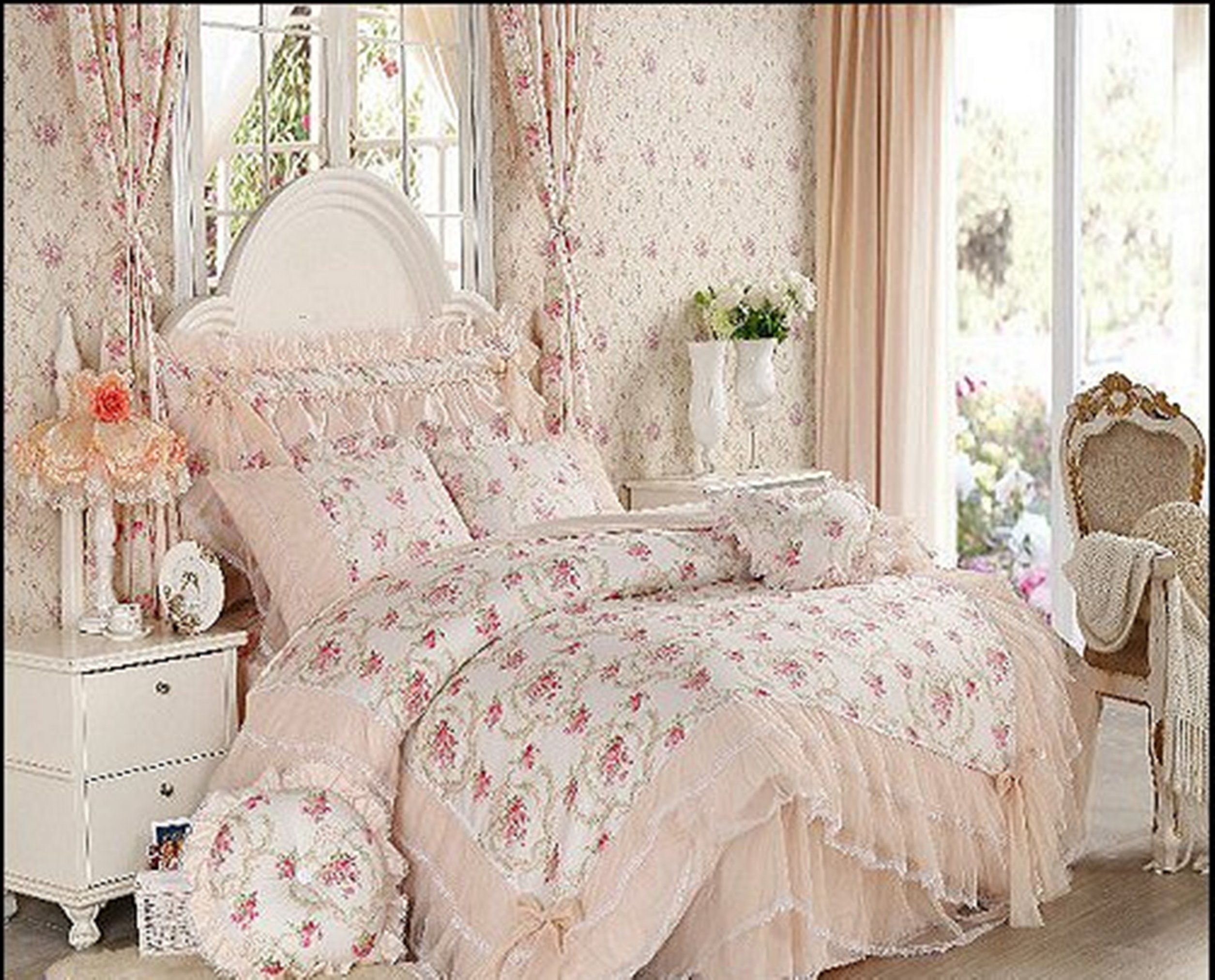Lace Ruffles Bedding Victorian Style Bedroom Ideas Victorian