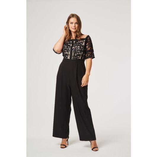 ff8c87a5e9aa Hilary Crochet Bardot Jumpsuit