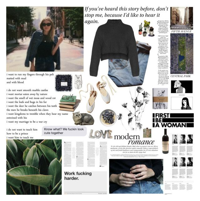 """""""i want to be camille rowe when i grow up"""" by spacelava ❤ liked on Polyvore featuring Soludos, Whiteley, Levi's, KEEP ME and camillerowe"""