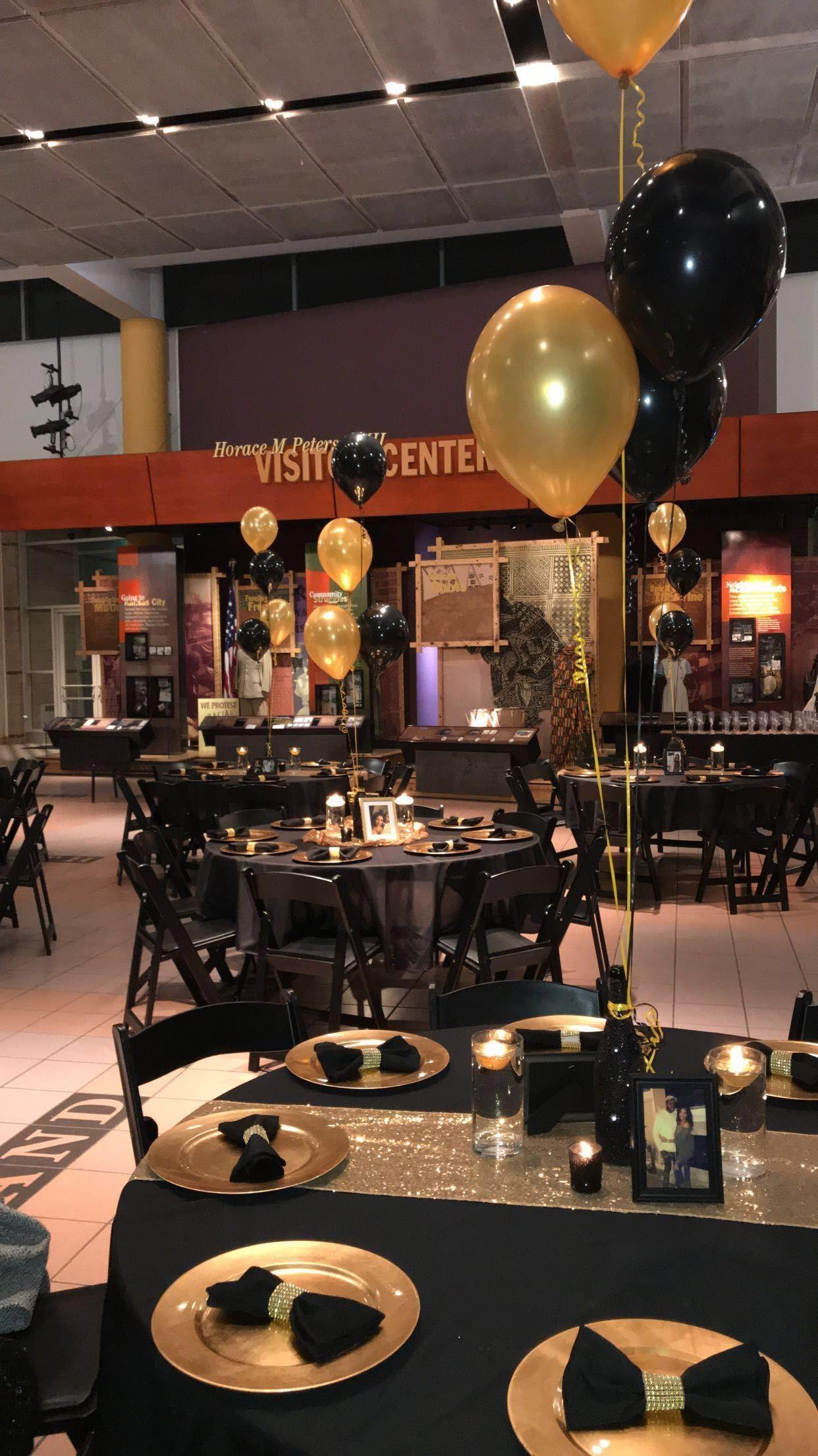 49 Creative Black Gold Table Centerpieces Ideas Birthday Party