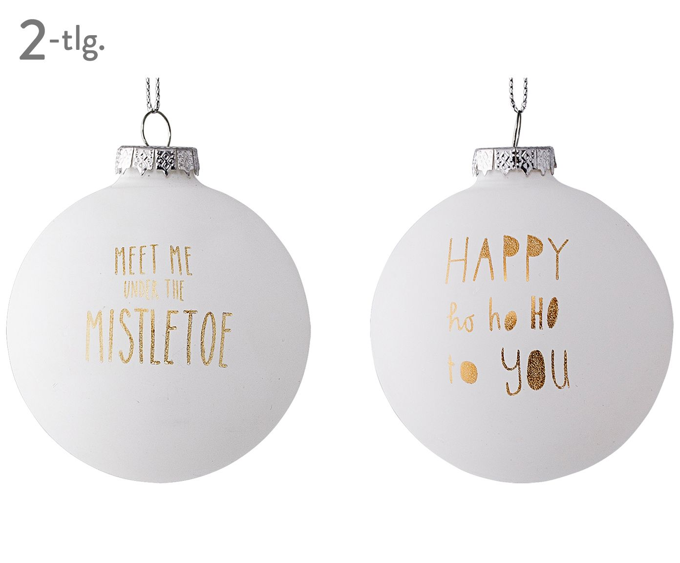 weihnachtskugel set mistletoe 2 tlg kr schtdag christmas christmas decorations und xmas. Black Bedroom Furniture Sets. Home Design Ideas