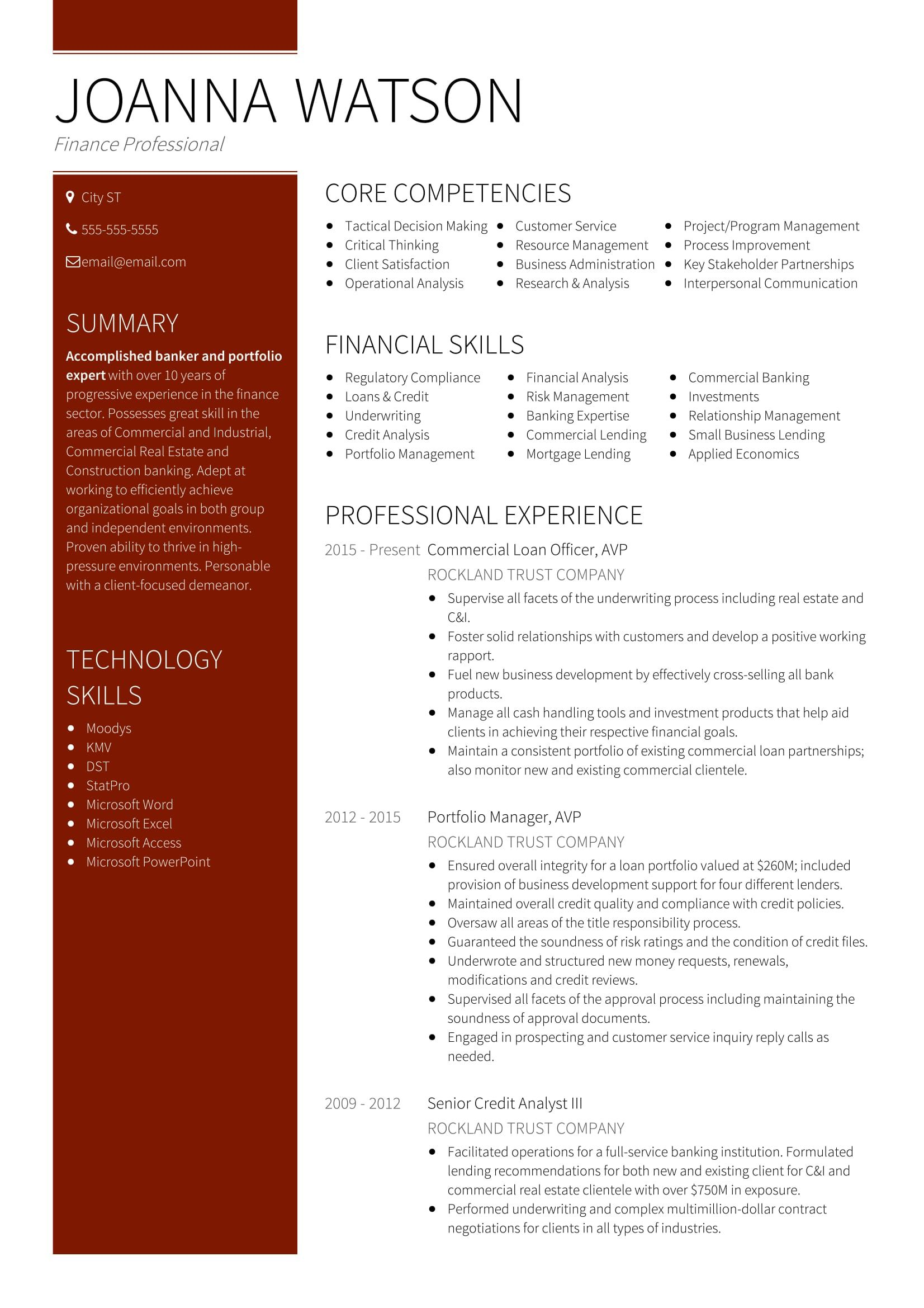 though you get all types of resume templates on web  getting a perfect banking executive resume