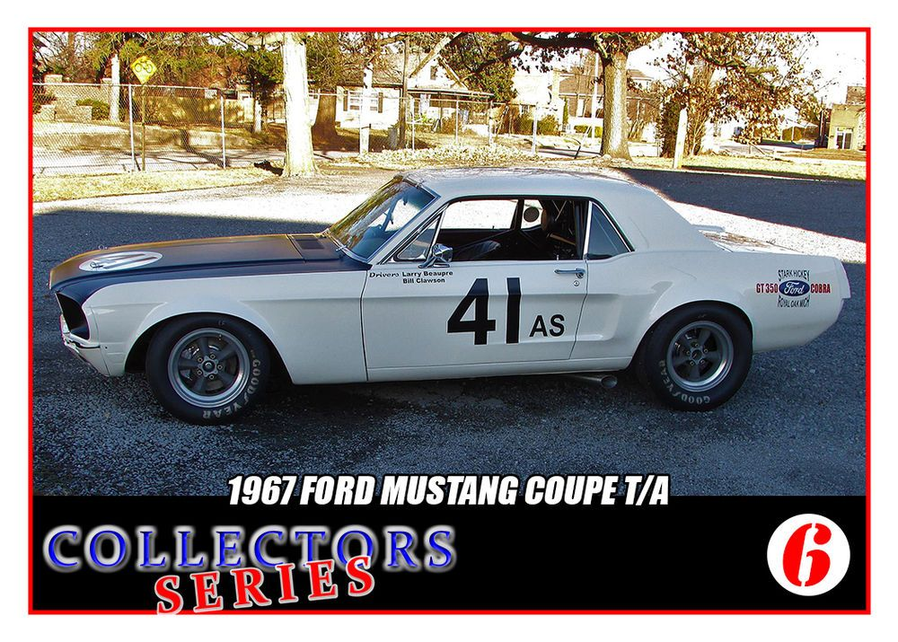 1967 Mustang Coupe #41 Trading Card- SCCA Racing Trans Am ...