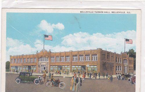1925 Postcard Belleville, Illinois Belleville Turner Hall
