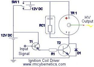 ignition coil driver with transistor protection