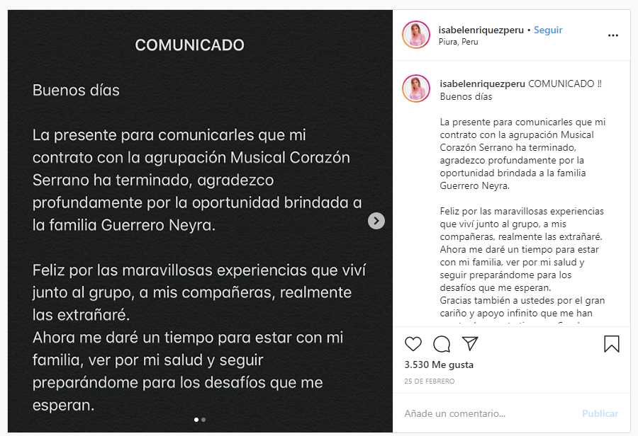 Integrante De Corazon Serrano Abandona Agrupacion Tras 9 Meses En La Orquesta En 2020 Agrupacion Musical Orquesta Musical
