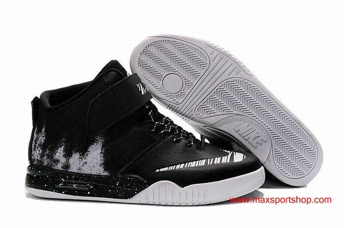 0d28046bc7c6 LeBron James Nike Air Akronite Black White Mens Basketball Shoes  72.00