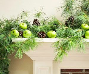 Fresh Simple Ways To Decorate For Winter: use on the porch, kitchen & armoire