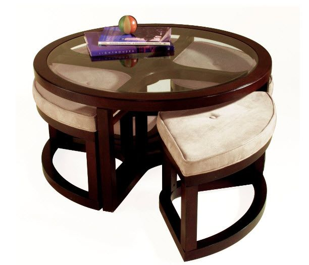 round coffee table with seating