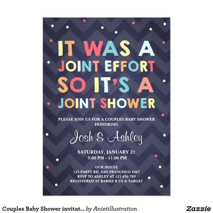 Couples Baby Shower Invitation Coed Shower Joint Pinteres