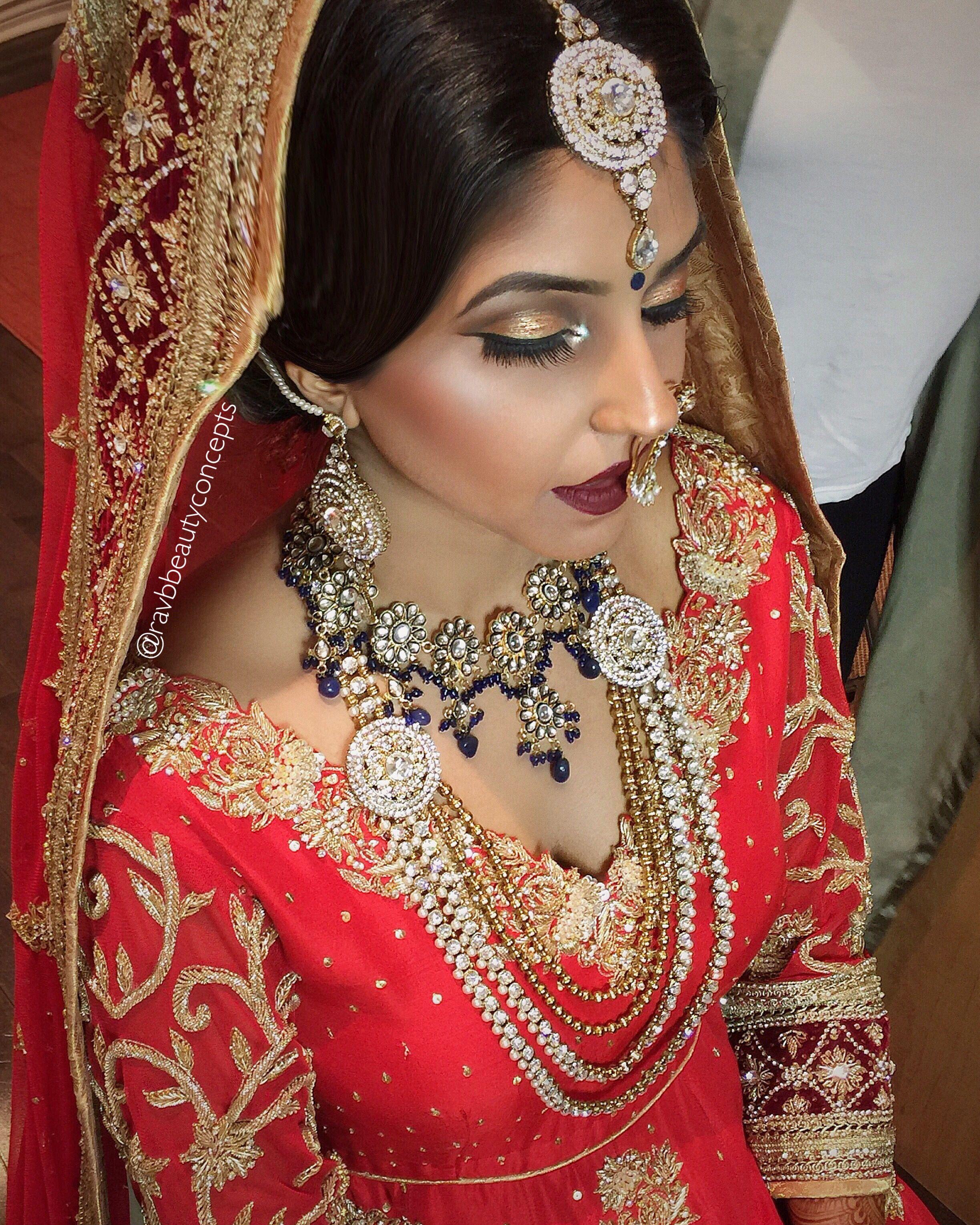 Indian Bridal Makeup Indian Bridal Hair Bridal Makeup Bridal Hair Punjabi Bride Punjabi Wedding Vog Best Bridal Makeup Bridal Makeup Artist Bridal Makeup