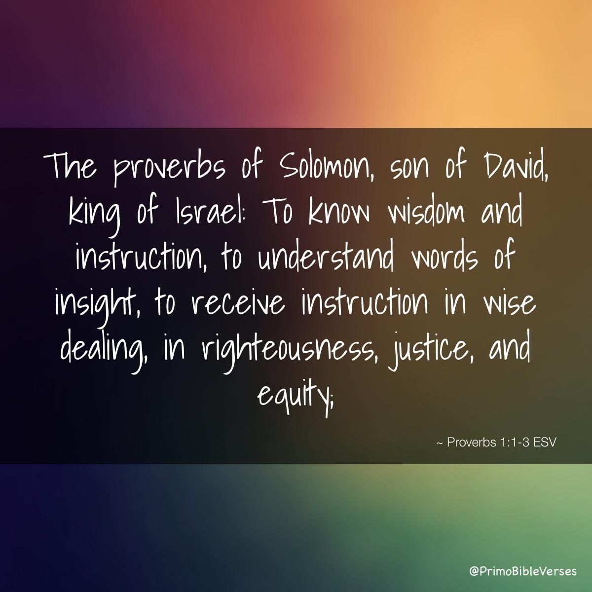 proverbs david and solomon 1 the proverbs of solomon the son of david, king of israel ב לָדַעַת חָכְמָה  וּמוּסָר לְהָבִין, אִמְרֵי בִינָה 2 to know wisdom and instruction to comprehend  the.