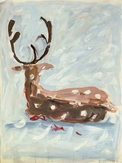 UNTITLED (DEER)  By Richard Bosman  Artwork Description  Dimensions: 30 3/8 x 23in. (77 x 58.5cm.)