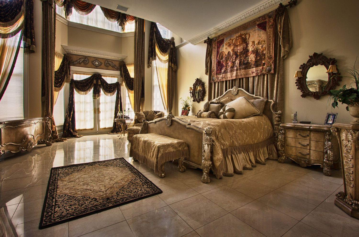 Sleep like a Queen in this  story Master Bedroom Exclusively