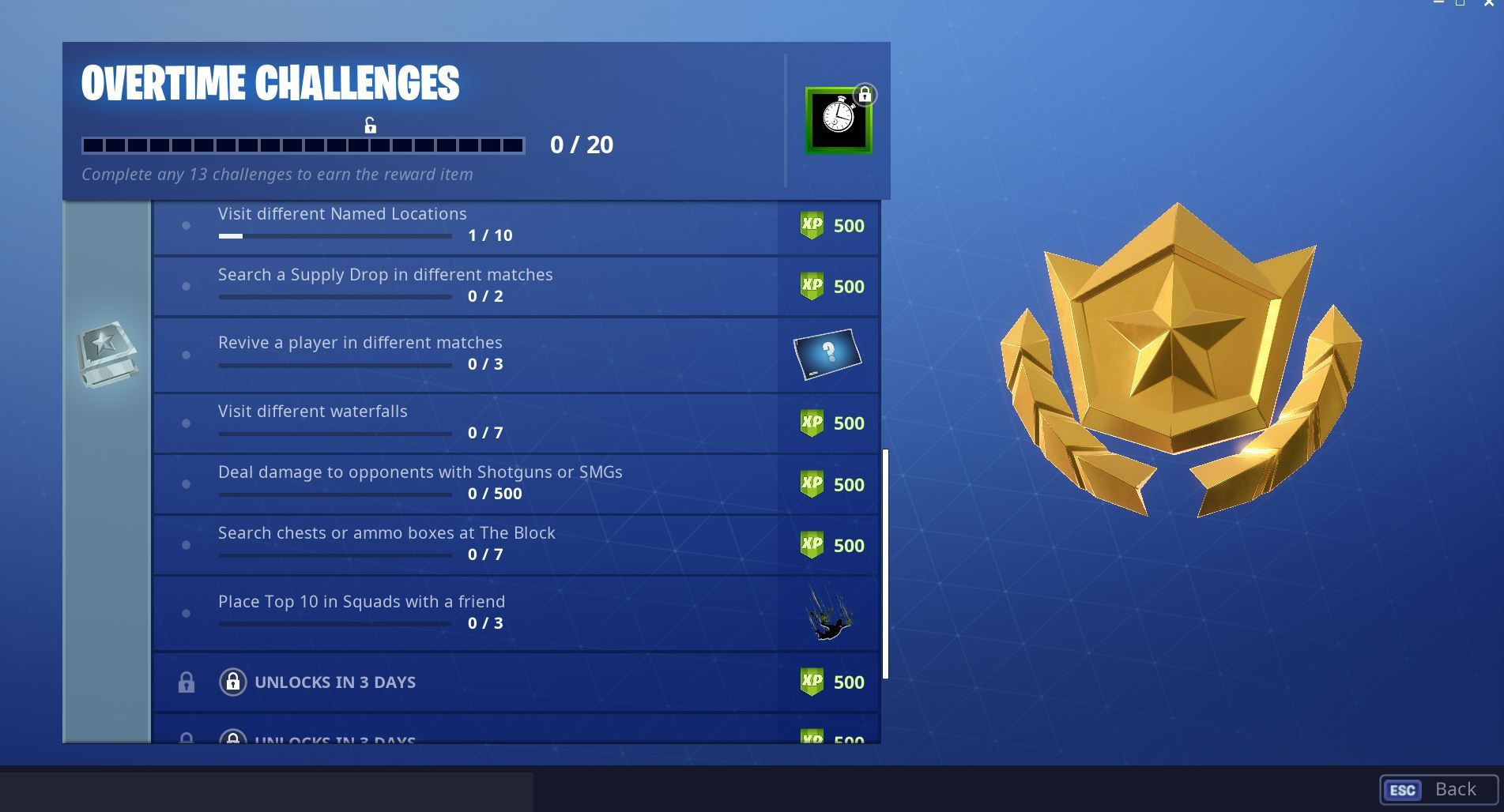 Four New Fortnite Overtime Challenges Rewards Have Been Unlocked Four New Fortnite Overtime Challenges And Rewards Have Been Fortnite Challenges Epic Games