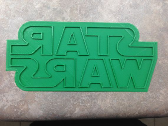 STAR WARS Logo Fondant and Cookie Cutter by 3DPrintingNSupplies