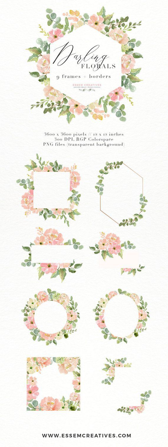 watercolor flowers clipart floral frames clipart southwestern