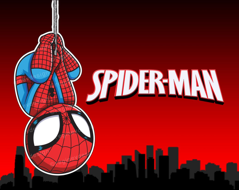 Spiderman Clipart, Sticker, Avengers, Marvel, Superhero