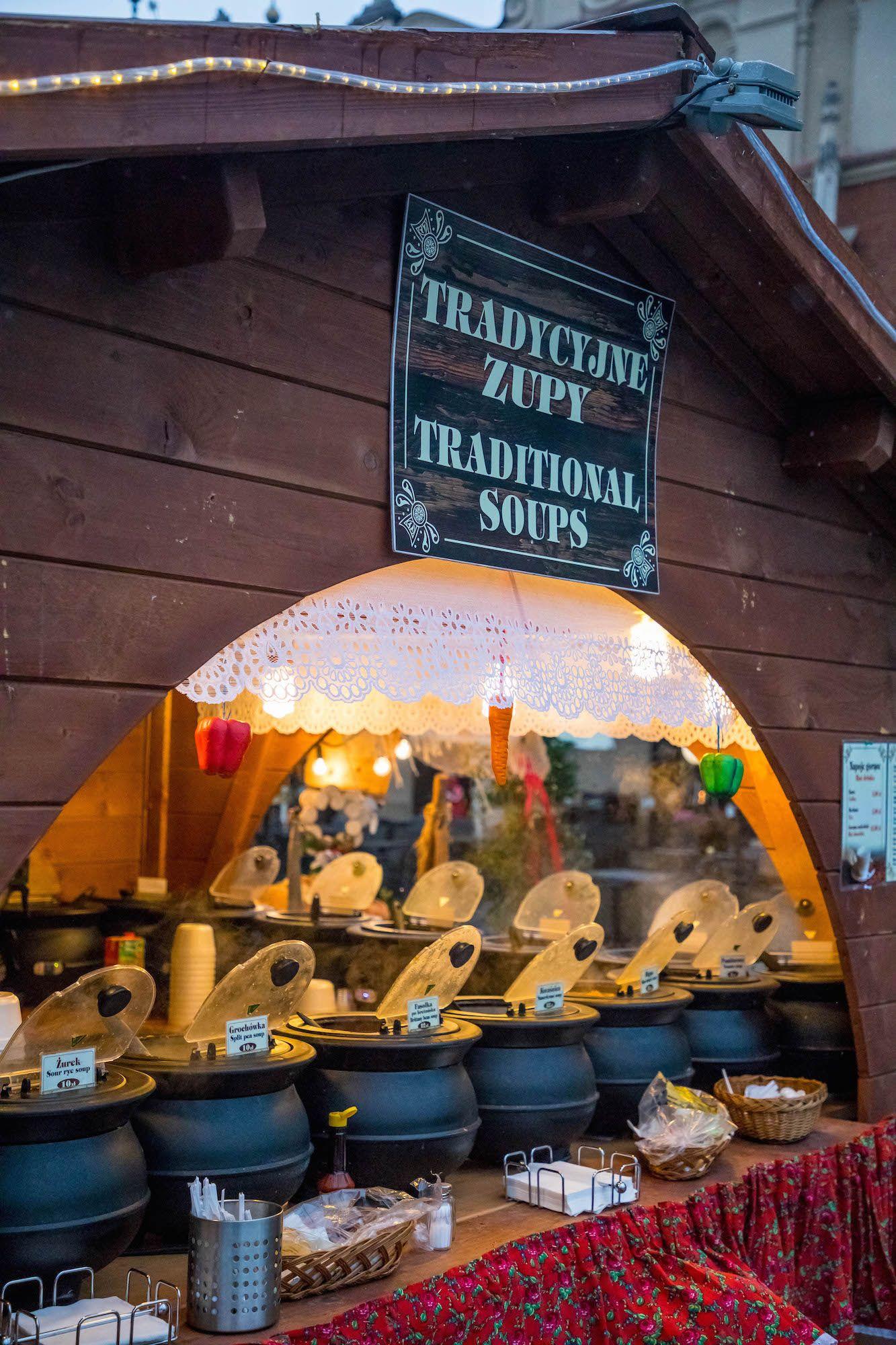 foodstallskrakowmarket Krakow christmas market