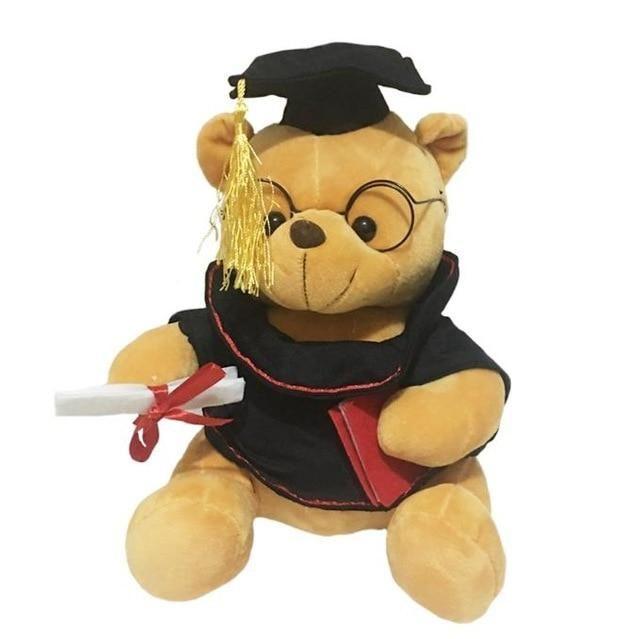 1pc 18cm cute graduate dr bear plush toy stuffed teddy bear animal toys for kids funny graduation gift for children home decor #bearplushtoy