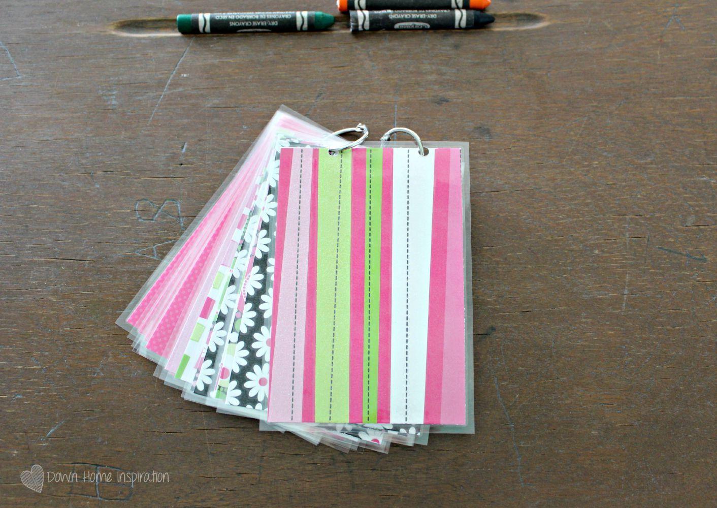 Make Diy Dry Erase Flash Cards With Free Printables