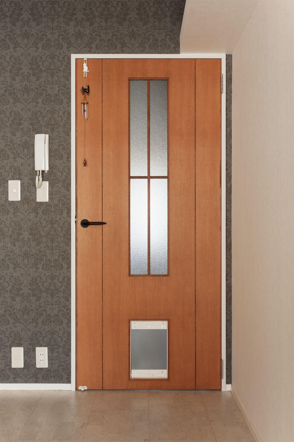 リフォーム リノベーションの事例 造作建具 ドア ペットドア 施工