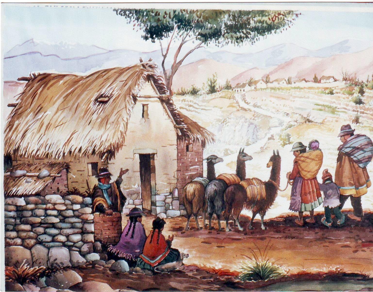 Paisaje andino buscar con google arte peruano - Cuadros de pies ...
