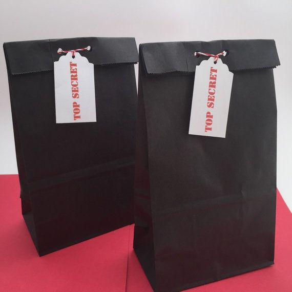 Spy Party Favor Bags Secret Agent Favor Bags By