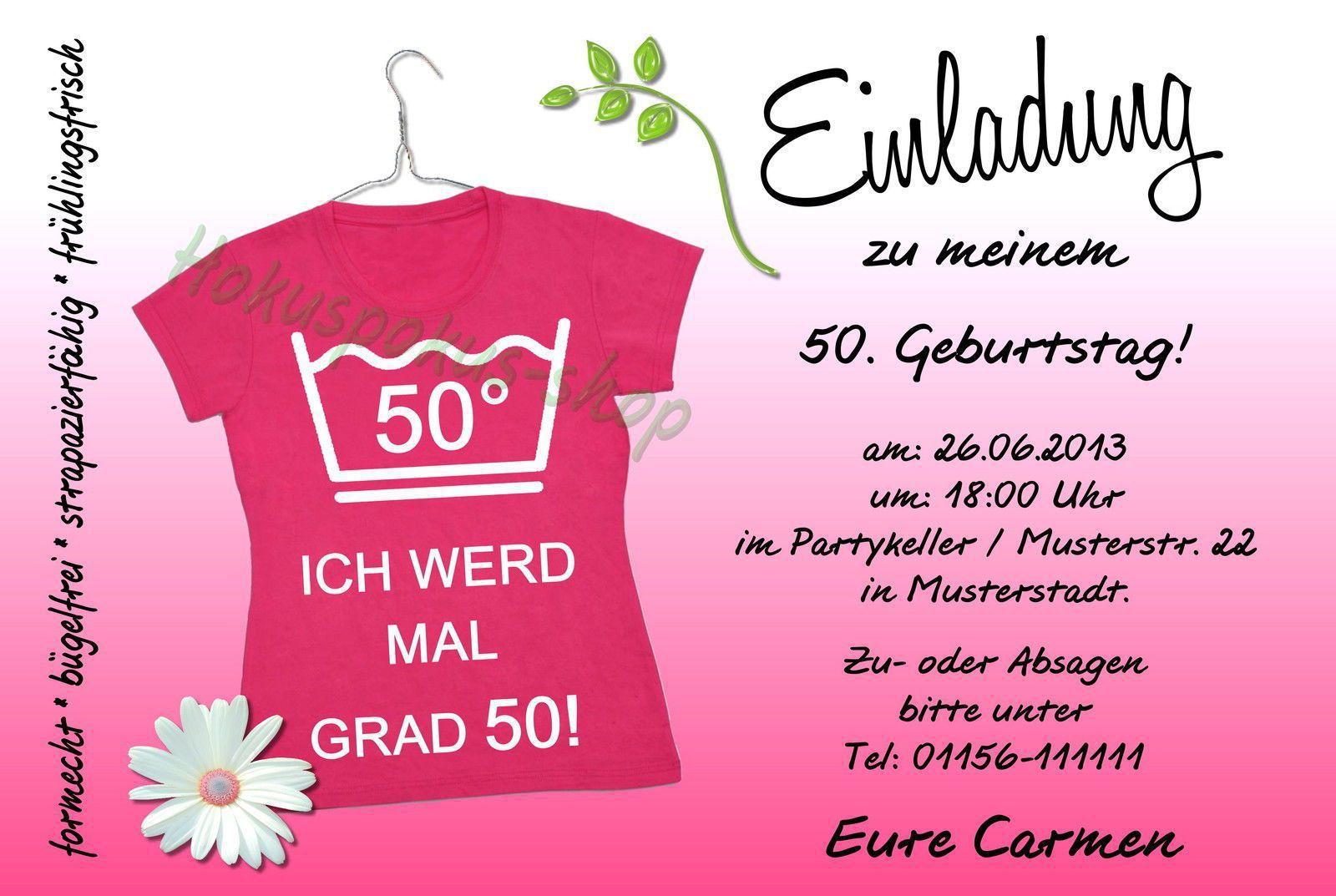 Einladungskarten 50 Geburtstag Kostenlos Download 2