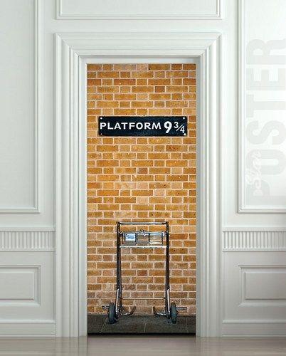 Wall Door Sticker Platform 9 3 4 Express Mural Decole Poster Byton