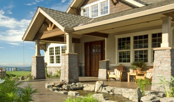 Beautiful Modest Home With Lots Of Windows And Partial Stone Just A Nice Peaceful Place Building A House Craftsman Style Homes Craftsman Style Interiors