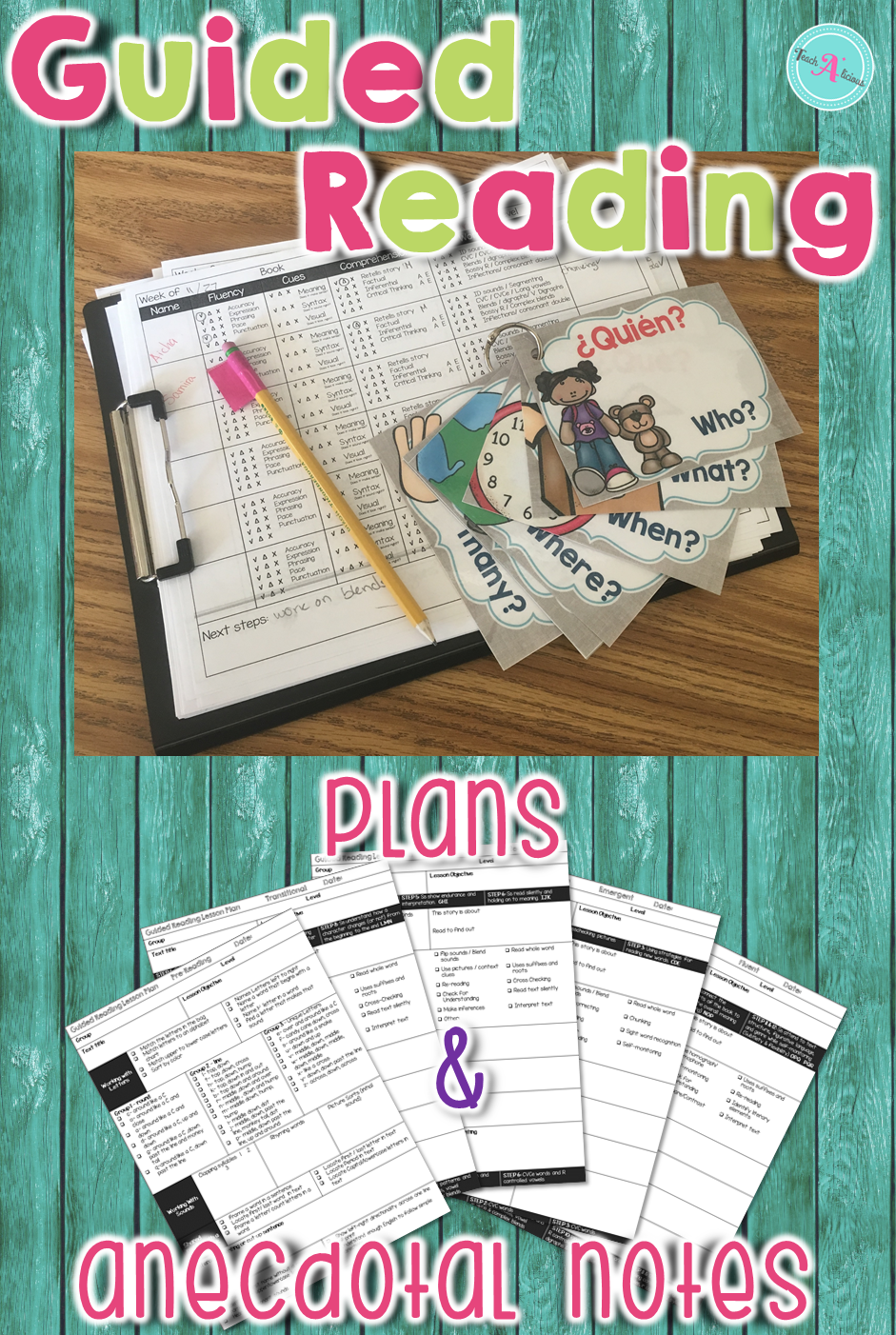 Simple Guided Reading Lesson Plans (Templates & Anecdotal ...